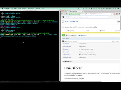 Live Reload Sublime, Chrome, Anything - Fast and easy with Live-Server