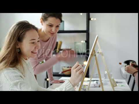 Graphics 2018 | Group of Students Painting at Art Lessons