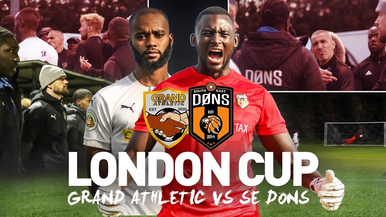 Download SE DONS vs GRAND ATHLETIC | LONDON CUP QUARTER FINAL | Sunday League Football