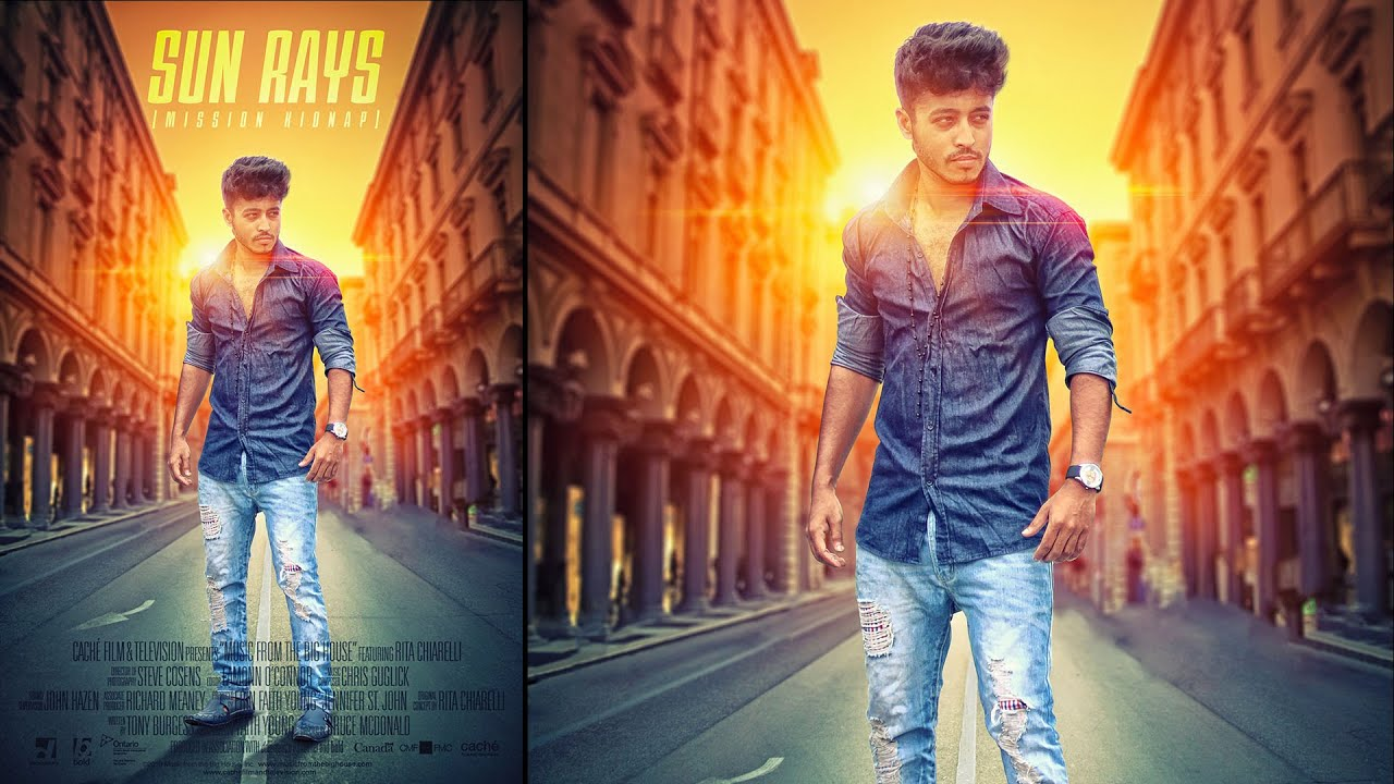 photoshop tutorial creating movie poster photo