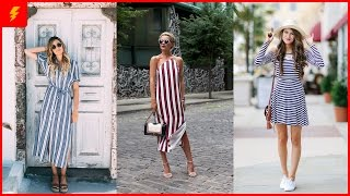 14 Outfits With Striped Dresses and Tips To Find The Right One For You