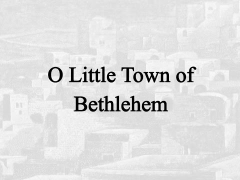 O Little Town of Bethlehem (Hymn Charts with Lyrics, Contemporary)