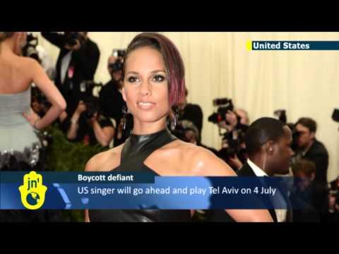 Alicia Keys rejects Israel boycott calls: American star refuses to cancel July Tel Aviv concert
