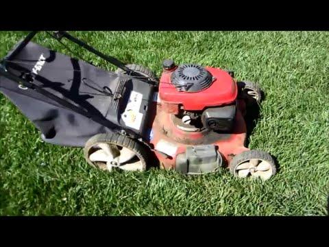 Troy Bilt Lawn Mower A Very Greasy Model TB542 Honda GCV160 Engine - Part I - April 11, 2015