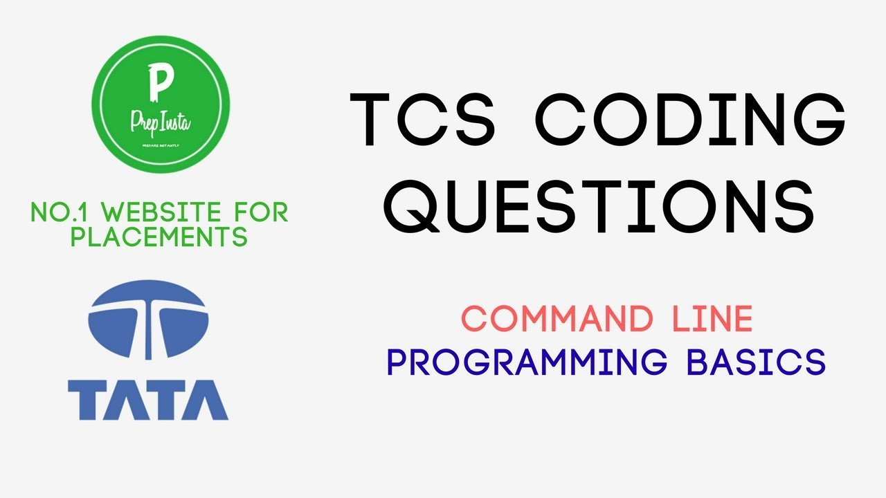 Most Repeated) TCS Command Line Arguments Questions Programs