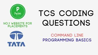 How to Solve TCS Command Line TCS Programming Basics in C TCS Coding Questions