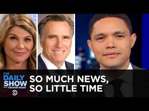 So Much News, So Little Time: Celeb Bribegate, Buzzkill Pelosi & Robotic Romney | The Daily Show
