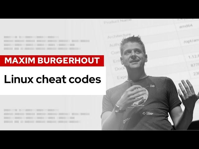 Linux cheat codes | DevNation Live