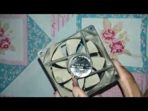 Repair computer fan and clean noisy, jam, slow speed, and dirty in home part-1