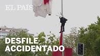 DESFILE MILITAR del 12 de OCTUBRE| Un PARACAIDISTA choca contra una FAROLA