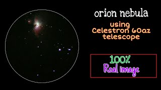 Orion nebula through Celestron…