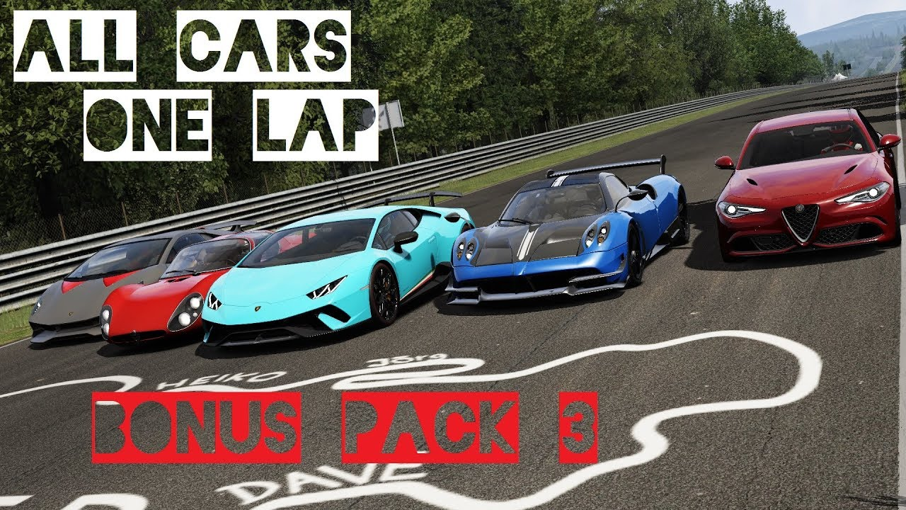 Assetto Corsa Bonus Pack 3 All Cars In One Lap Vr Gameplay