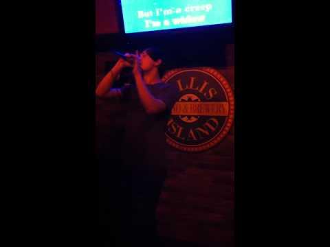 Chris Deak at Ellis Island singing Radiohead's Creep