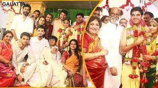 Superstar Rajinikanth, Dhanush, Anirudh at YGee Mahendra's Son Harshavardhana - Shwetha Wedding