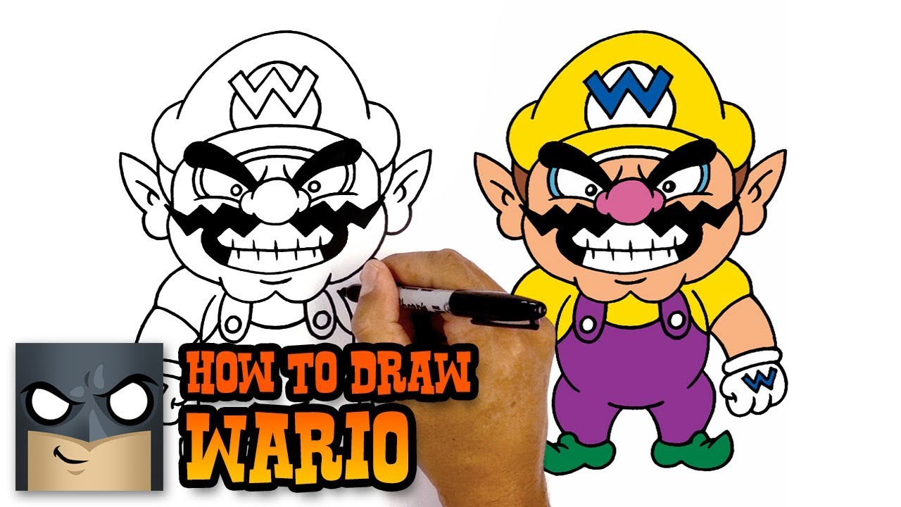 How To Draw Waluigi Super Mario Awesome Step By Step Tutorial
