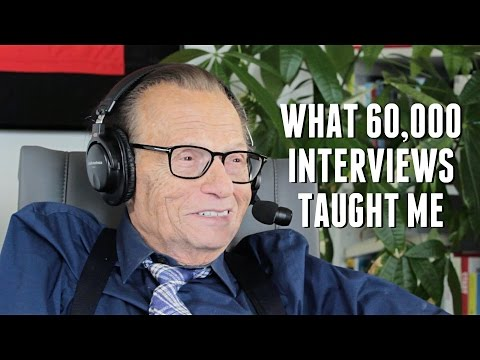 Larry King on What 60,000 Interviews taught him with Lewis Howes
