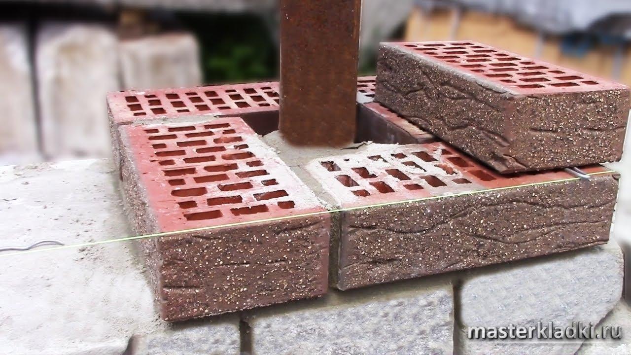 Кирпичная кладка 1-го ряда колонны