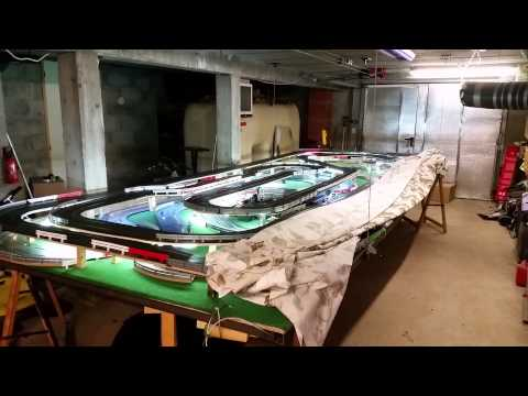 Scalextric circuit escamotable