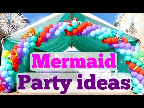 Little mermaid birthday party ideas youtube for Ariel birthday decoration ideas