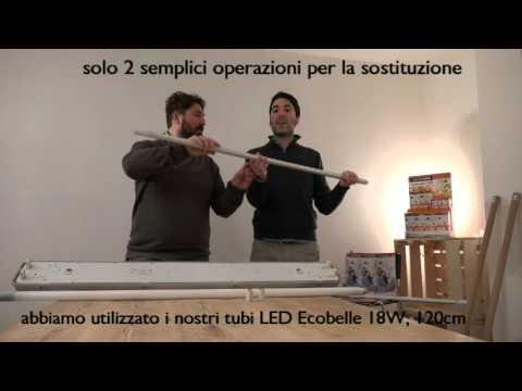 Plafoniera Tubo Led 150 Cm : Ecobelle vi spiega come sostituire un tubo neon tradizionale con
