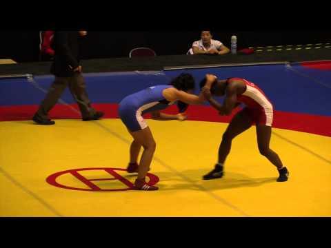 2014 Junior Pan-American Championships: 63 kg Temitope Ogunjimi (CAN) vs. Jessica Olivares (PER)