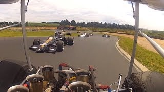Formula 5000: Onboard warm-up laps Lola T140