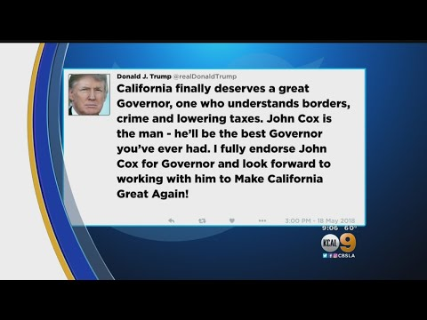 President Endorses GOP Candidate In California's Race For Governor