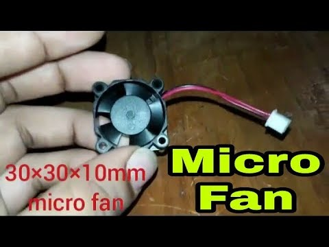 Micro 30mm (30*30*10mm) 5V DC 6500RPM Mini Fan Cooler