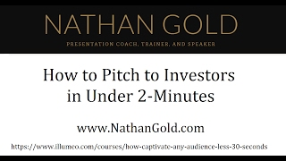How To Pitch To Investors In Under 2 Minutes