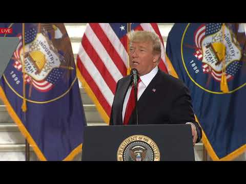 TOUCHING AND INSPIRATIONAL SPEECH: President Trump The Utah State Capitol, Salt Lake City 12/4/17
