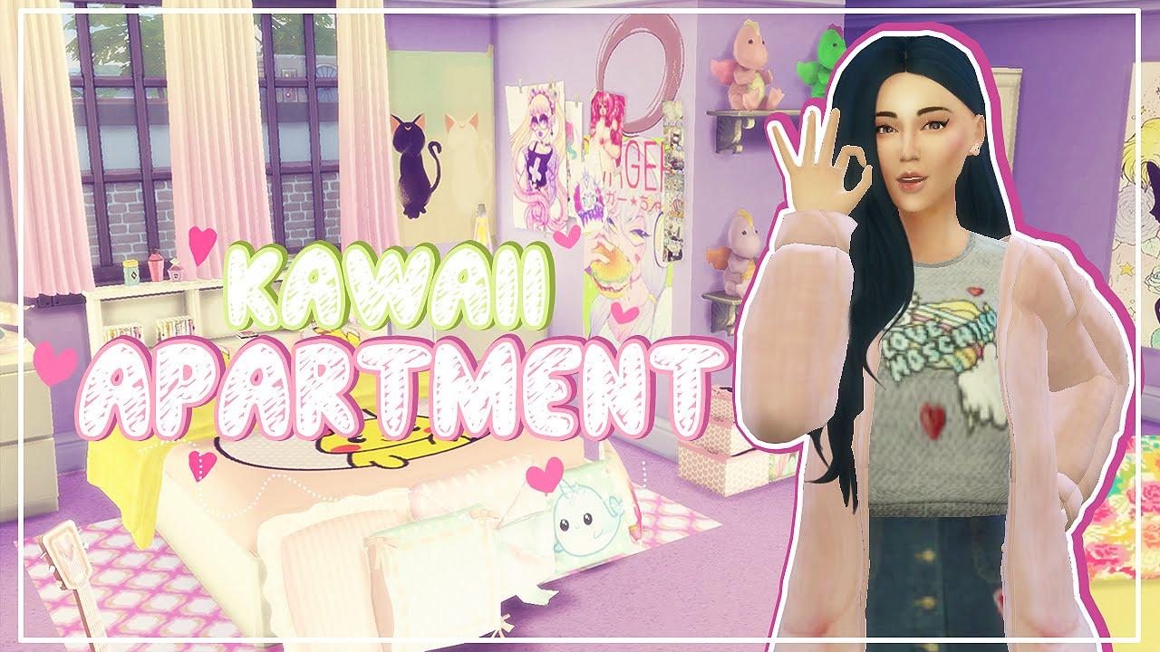 the sims 4: speed build   kawaii apartment - youtube