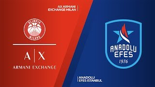 AX Armani Exchange Milan - Anadolu Efes Istanbul Highlights |EuroLeague, RS Round 10