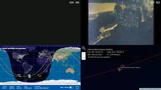Sunset Over South America - NASA/ESA ISS LIVE Space Station With Map - 500 - 2019-02-22