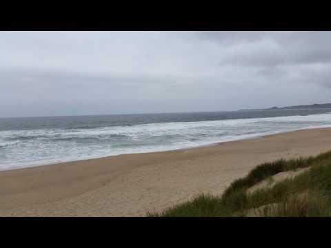 Morning beach run over Pacific coastline, Pescadero, CA, USA (2015.05)