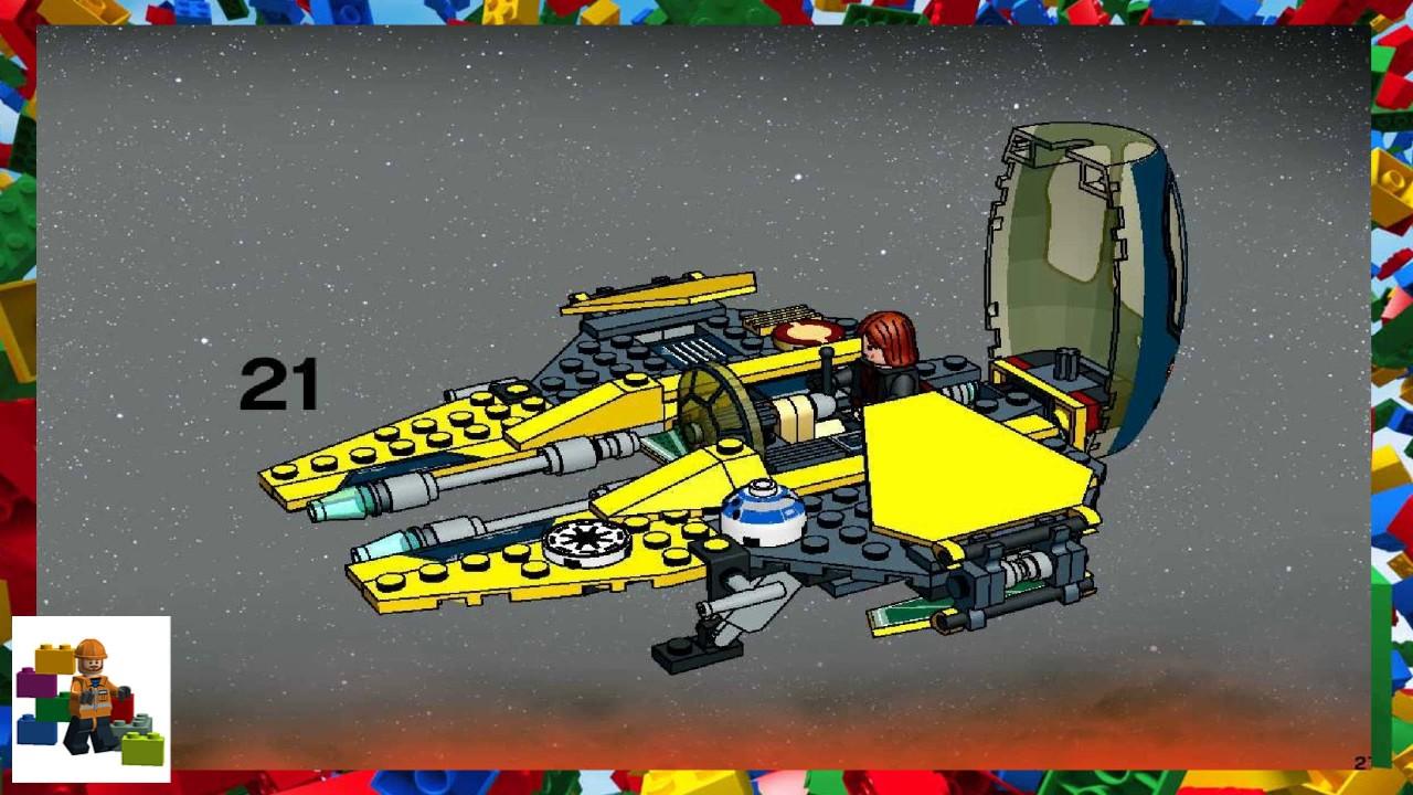 LEGO instructions - Star Wars - 7256 - Jedi Starfighter ...