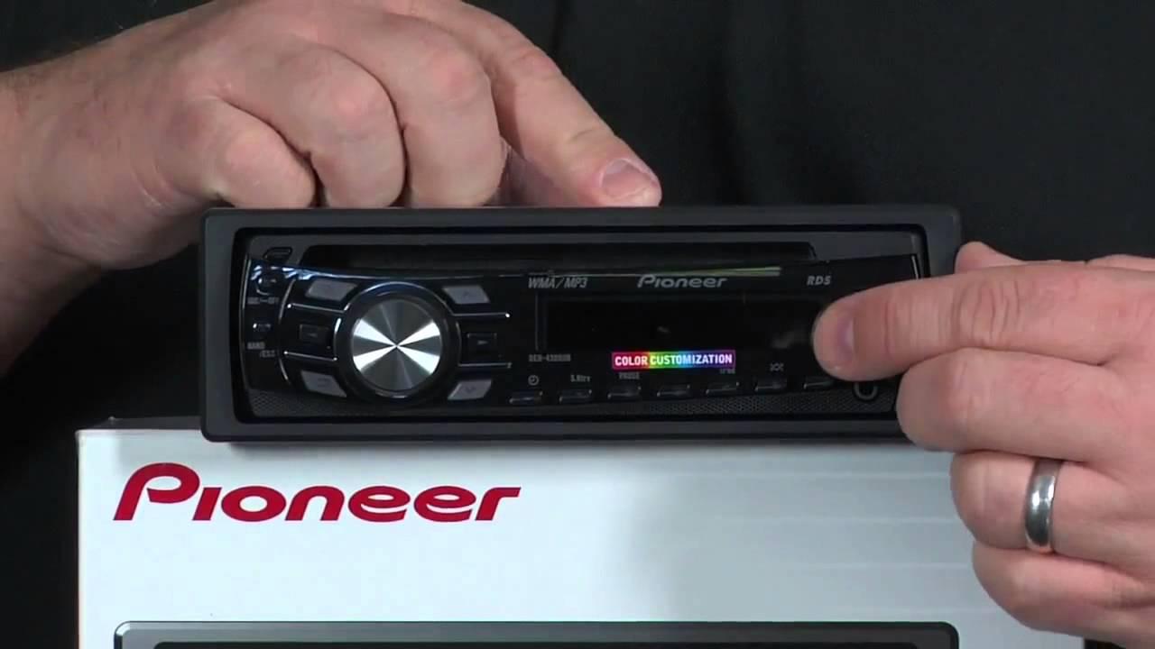 estereo para auto pioneer deh 4300ub receptor cd con control para ipod iphone y lcd. Black Bedroom Furniture Sets. Home Design Ideas
