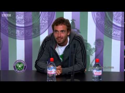 Funny Ernests Gulbis interview - Vampires @ Wimbledon 23.6.2014