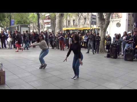 Тбилиси 2018. Грузинский танец на проспекте Руставели (18.04.2018)
