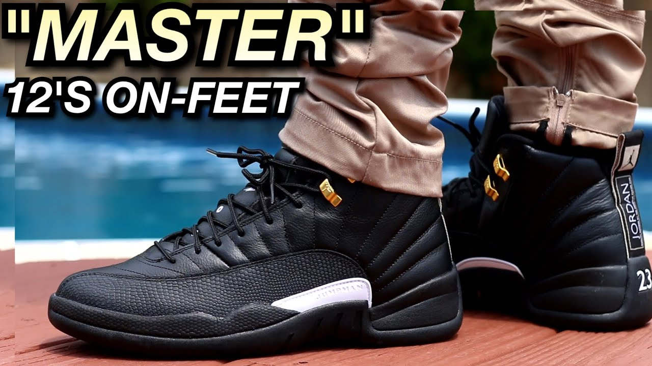 Air Jordan 12 The Master On Feet