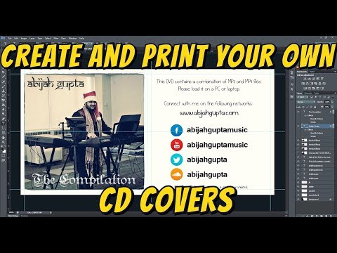 How to create and print your own CD Covers | Adobe Photoshop & Word