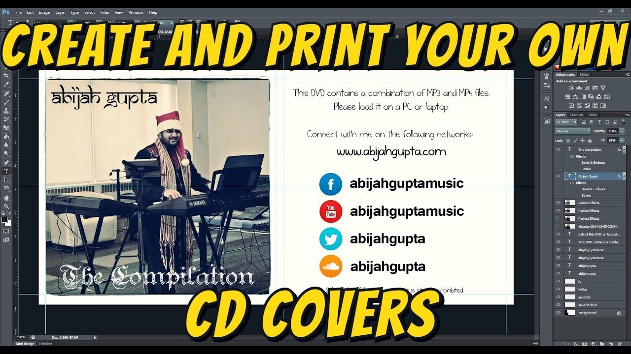 how to create and print your own cd covers adobe photoshop word