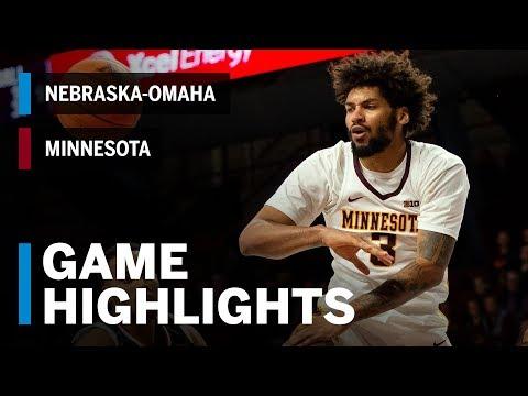 Highlights: Omaha At Minnesota Golden Gophers | Big Ten Basketball