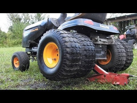 How To Put Dualie Tires On A Mower Youtube