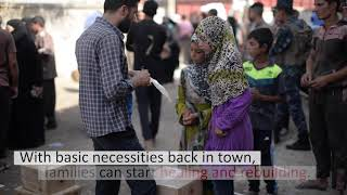 Aid arrives in Mosul