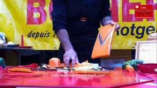 2  Démonstration des découpes de la Mandoline Börner par Les Fines Lames de Steph