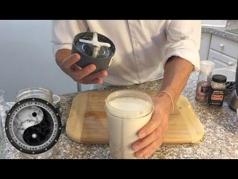 how to make commercial almond milk