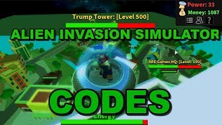 ROBLOX UFO INVASION SIMULATOR (CODES)