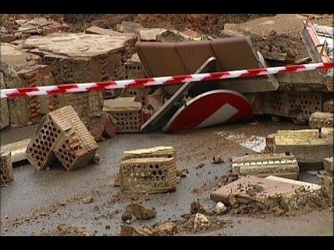 Intensas lluvias provocan desprendimientos en Tarragona