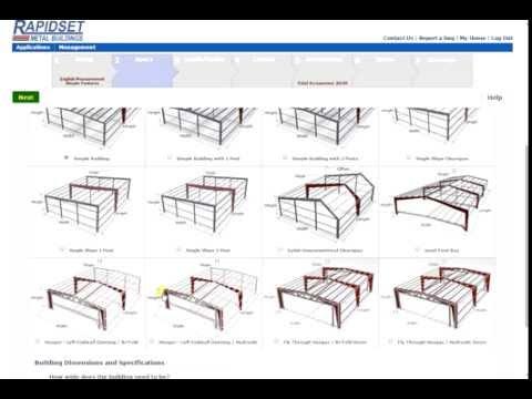 Rapidset Metal Buildings Online Design, Price and Print Plans Tool