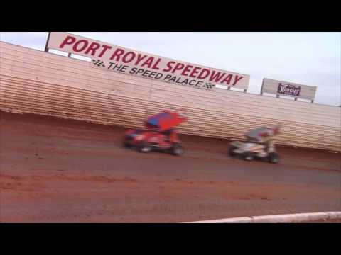 Port Royal Speedway 410 Sprint Car Highlights 6-18-16